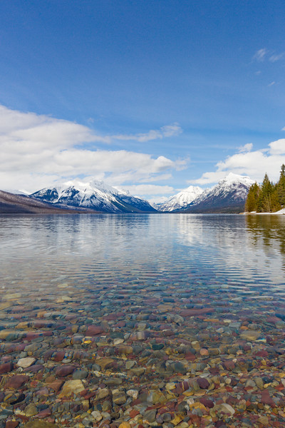 Close up of Lake Mc Donald in Glacier National Park II