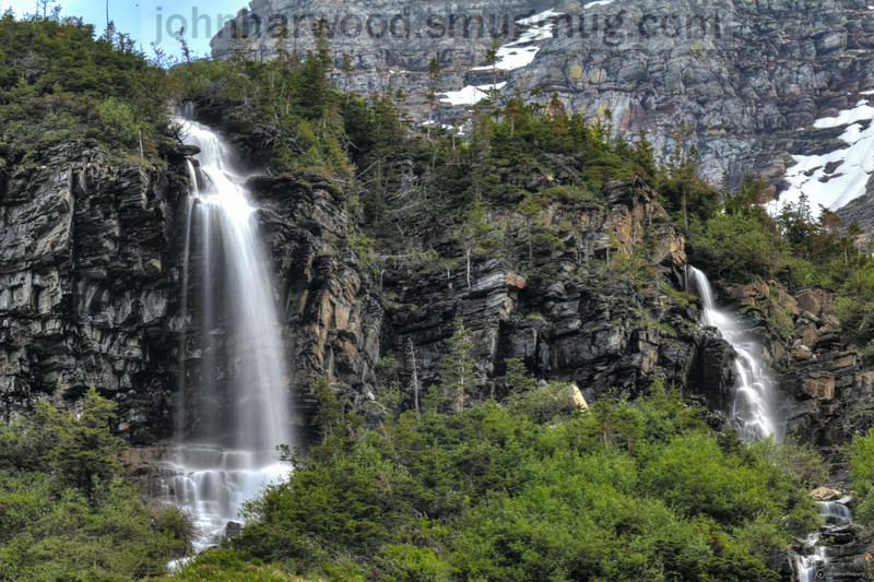 Falls near the Weeping Wall along Going To The Sun Road in Glacier National Park