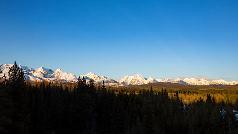 Golden Hour on the western edge of Glacier National Park IV