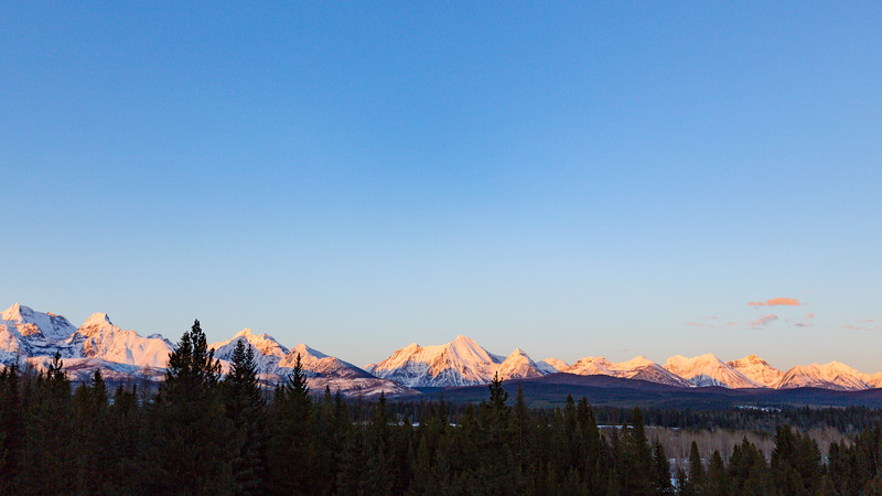 Golden Hour on the western edge of Glacier National Park III