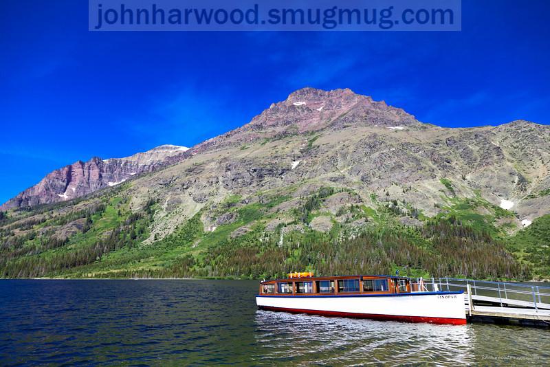 Two Medicine Lake, Glacier Park & tour boat
