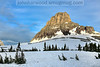 Clements Mountain from Logan Pass. Can anyone find the American Flag?