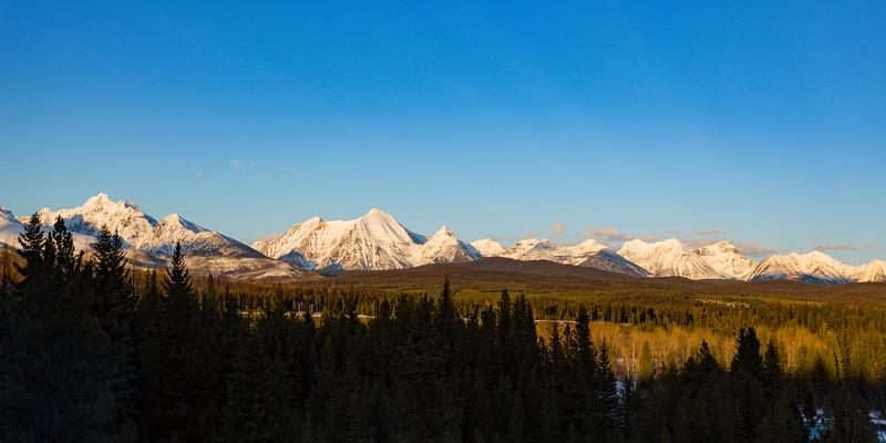 Golden Hour on the western edge of Glacier National Park II