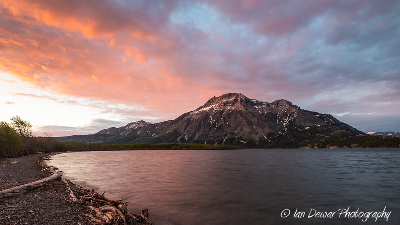 Sunrise over Waterton Lakes