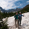 We hiked through a lot of snow to get to Iceberg Lake.