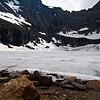 Iceberg Lake was still frozen.