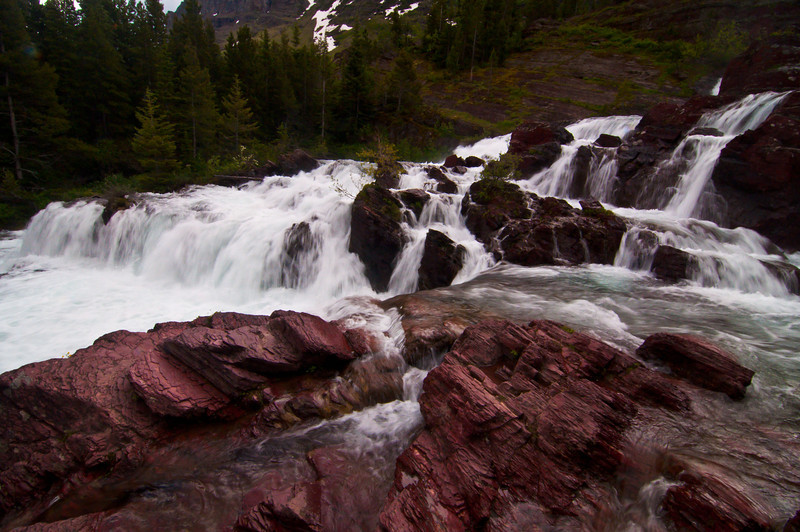 The first day was really windy, but Dana and I did a short hike to Red Rock falls. Water is a recurring theme in Glacier.
