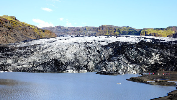 Yes, that's us little people to the right of Solheimajokull Glacier