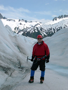 Yours truly on Mendenhall Glacier, Alaska