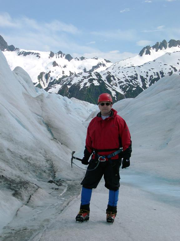 Yours truly on Mendenhall Glacier, Alaska