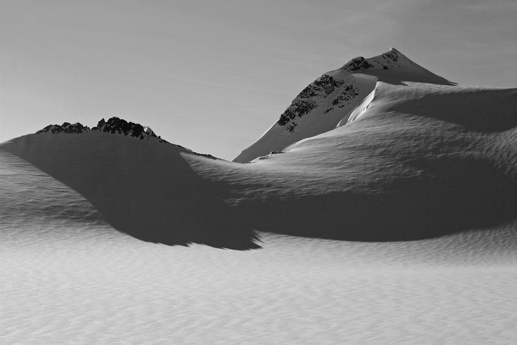 Mountain peaks, Nunatak, in Juneau Ice Field, Alaska
