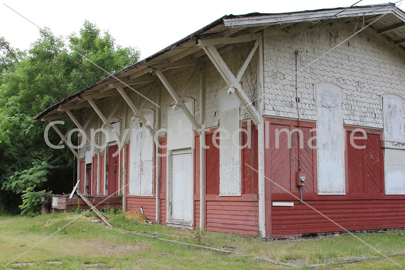 Abandoned Passenger and Freight Depot in Glassboro - Conrail ROW
