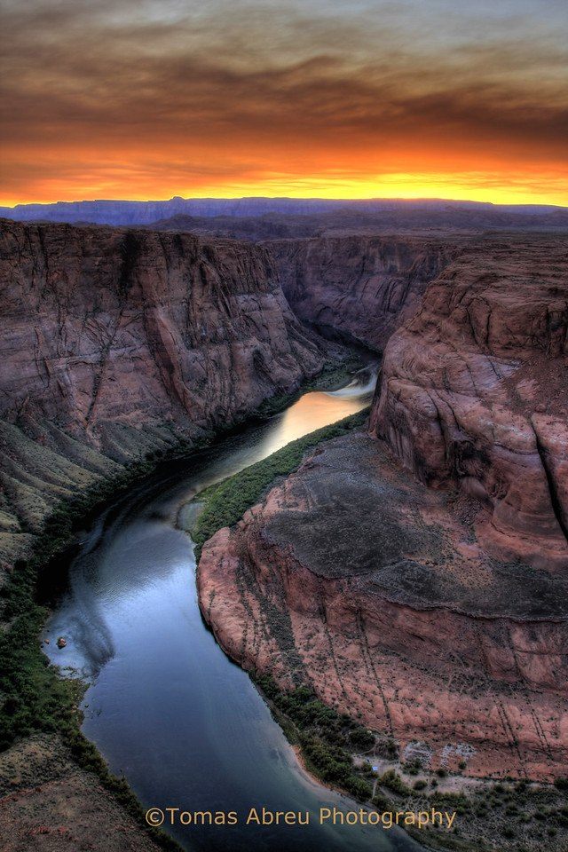 Sunset, Horseshoe Bend, Glen Canyon, Arizona
