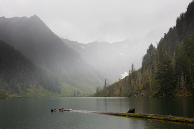 Pouring Rain at Goat Lake