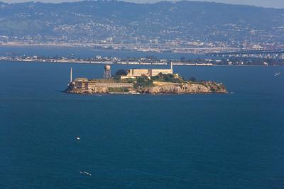 Alcatraz from the Marin Highlands