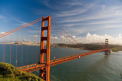 Golden Gate Bridge from the Marin Highlands - Fort Battery Spencer