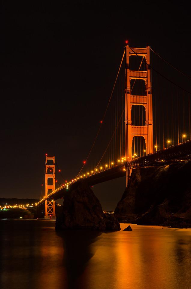 Down at the foor of the Golden Gate Bridge