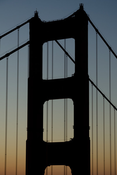Golden Gate Bridge at sunrise
