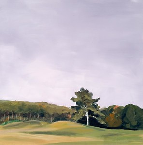 Fairway Tree, 2006, 24 x 24 inches, oil on canvas