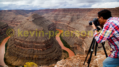 Kevin Peterson - Photographing the Goosenecks in Utah. USA