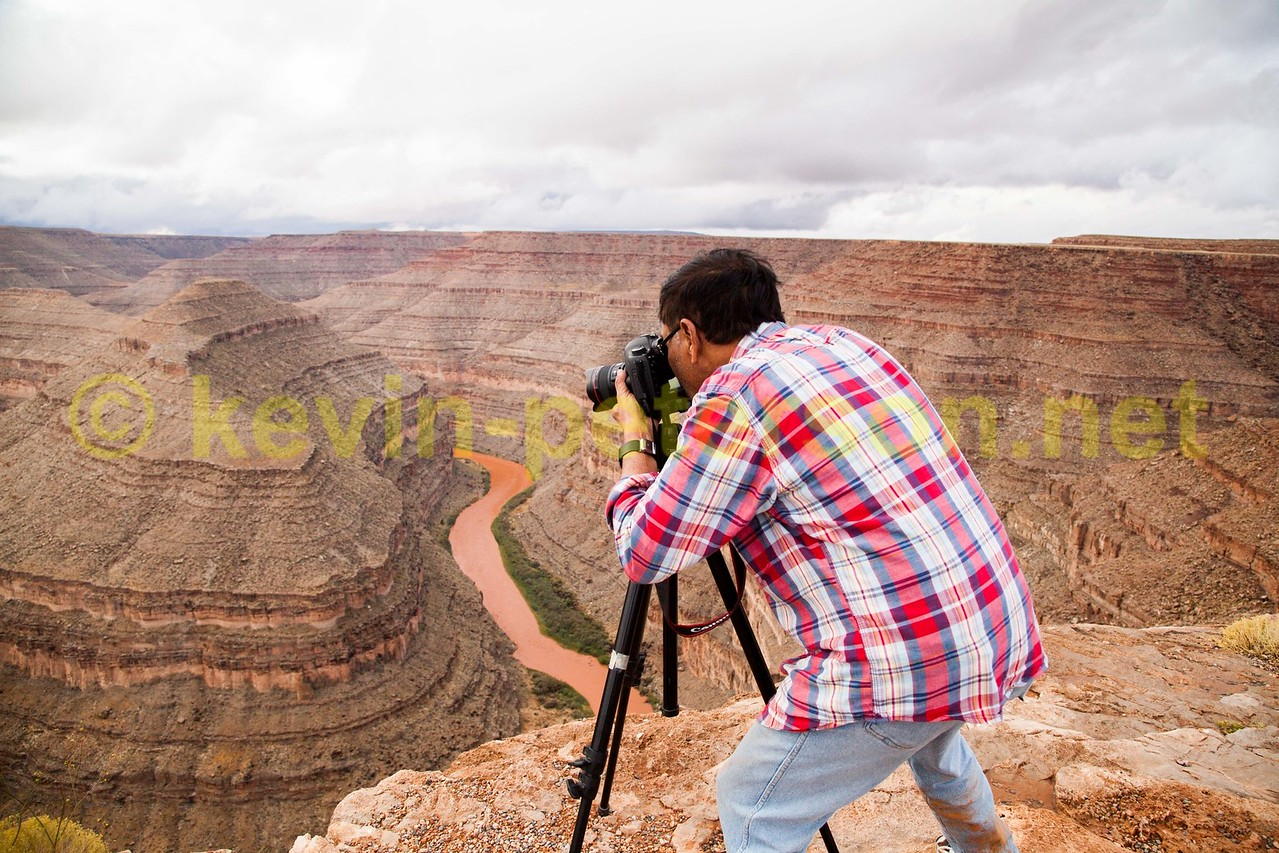Kevin Peterson - Photographing the Goosenecks in Utah. USA