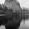 39  G Beacon Rock State Park Reflections BW V