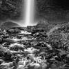 98  G Latourell Falls Creek BW