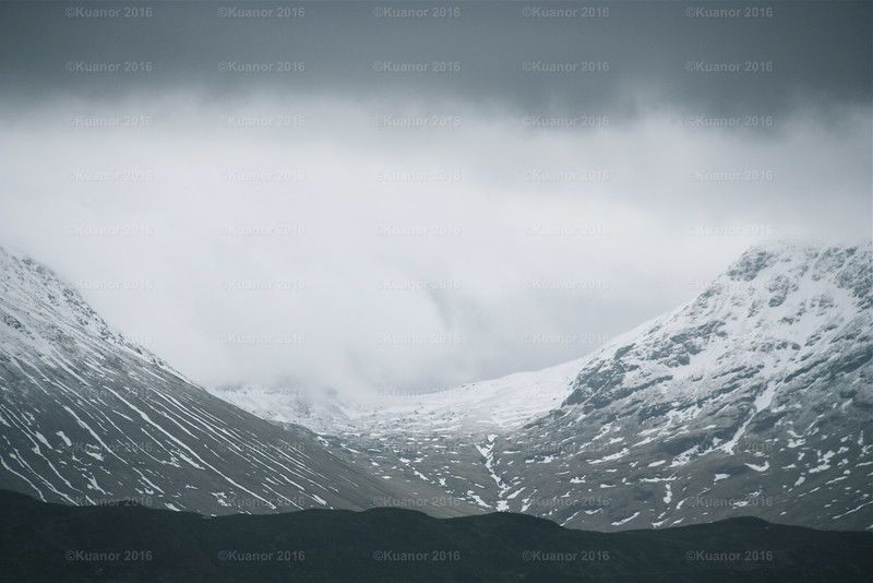 The Pass<br /> Between two Scottish mountains, an illusory final barrier to warmer pastures. Not somewhere one would wish to be caught at night without adequate supplies, shelter or warmth.
