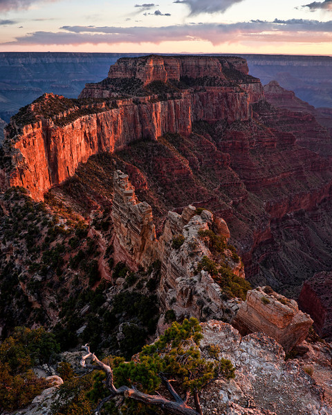 Wotan's Throne II<br /> <br /> My favorite formation in the Grand Canyon, Wotan's Throne. <br /> Cape Royal, Grand Canyon National Park, North Rim, Arizona, USA