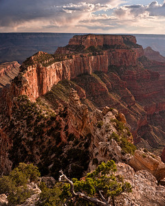 Royal Wotan  Wotan's Throne before sunset from Cape Royal Grand Canyon National Park, North Rim, Arizona, USA