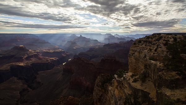 Light Raining Down On The Canyon