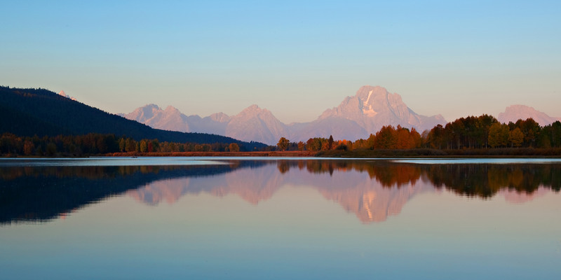 Oxbow Bend Sunrise Reflections, Autumn