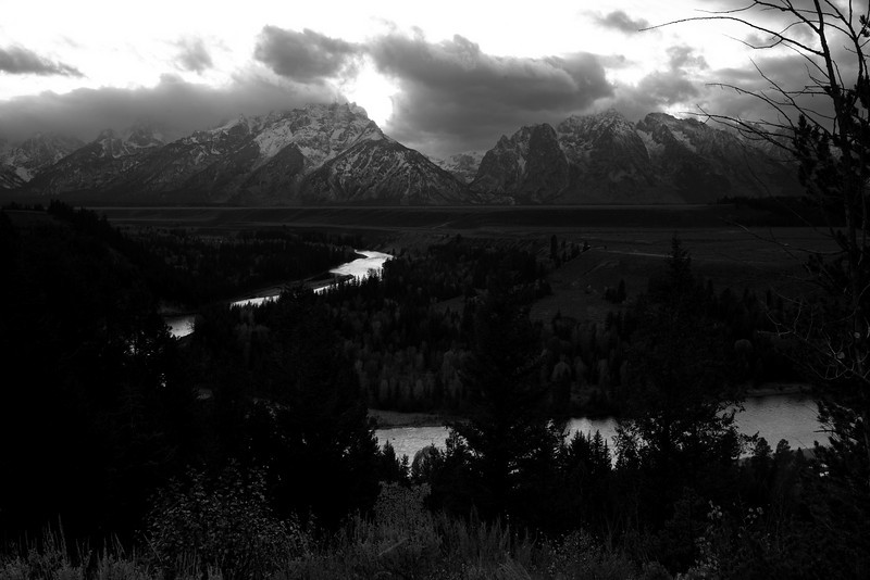 Snake River Overlook in Autumn, After a Snowfall