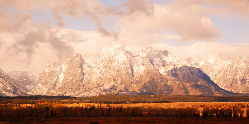 Snow-covered Teton Range