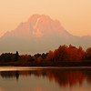 First Light on Mount Moran