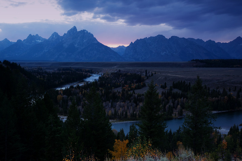 Snake River in Autumn, Post-Sunset