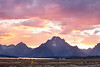 Fiery Sunset over the Tetons