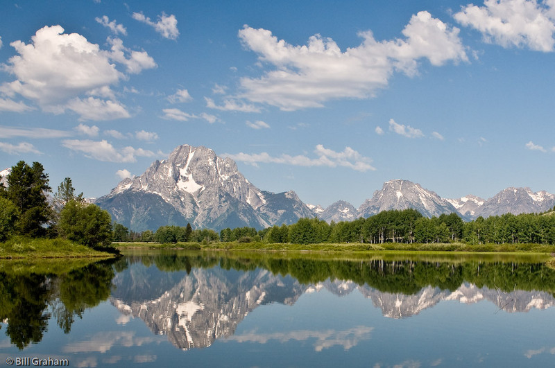 Mount Moran and Bivouac Peak from Oxbow Bend