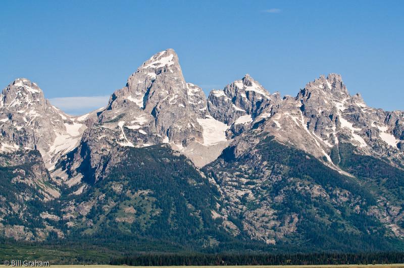 Middle Teton, Grand Teton and Mount Owen