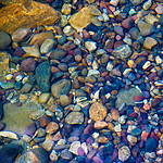 Pebbles in the River.  Grand Tetons National Park, Jackson Hole, Wyoming