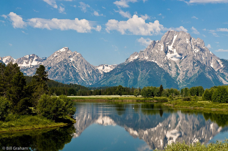 Mount Moran and Mount Woodring from Oxbow Bend