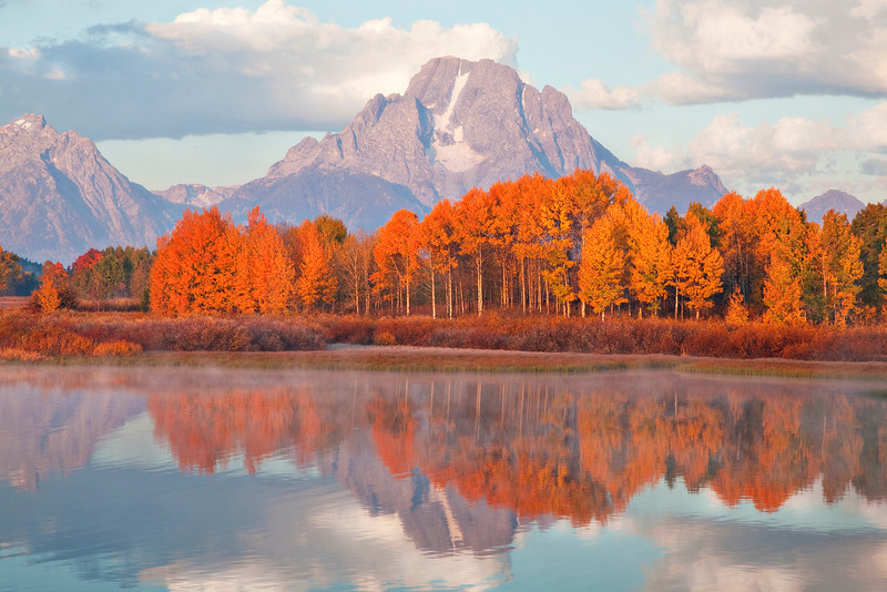Fall Color at Oxbow Bend, Grand Teton National Park