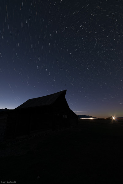 Star Trails at the Moulton Barn