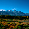 Grand Teton Valley in Oct. 2003.  Shot on Kodachrome. Canon EOS Elan2E, 28-80 Canon lens. What a place..! )