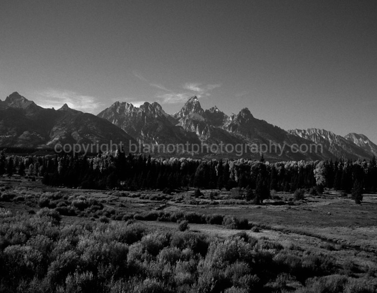 Grand Tetons Valley, Oct. Greyscale, 2003