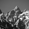 Grand Teton Mountain tops, Monchrome