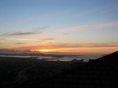 Sunset after a week of rain, 9 Jan 2005