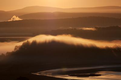 Mist over Holme Island