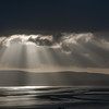 Sun rays over Morecambe Bay