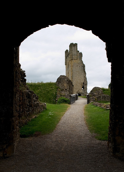 Old English Castle Ruin, Yorkshire, England